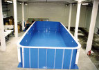 wyspawany basen, pp light blue,pp-c medium blue,caribbean blue,jasnoniebieskie płyty,polipropylen niebieski basenowy,basenowe realizacje, płyty ekstrudowane basenowe płyty copolimerowe,producent, dostawca, wytwórca,spoiwo,druty spawalnicze,spawanie, zgrzewanie z tworzywa