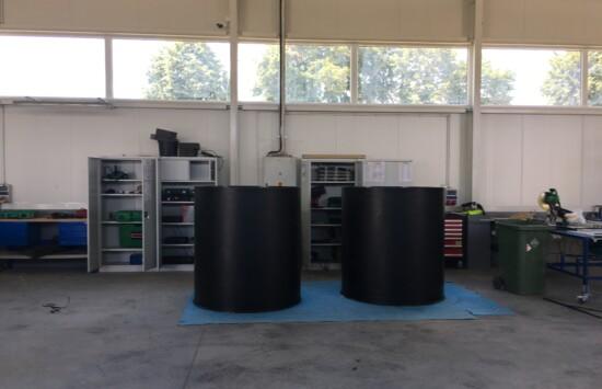 Zbiornik zarobowy koagulantu, zbiorniki chemoodporne z tworzywa