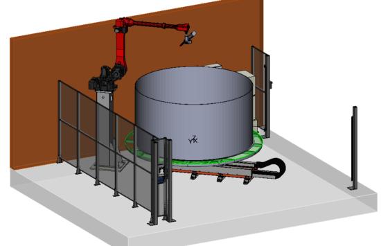 Spawanie tworzyw sztucznych – zbiorników HDPE PE100 RC / PP / PP-H PP-DWU PP-DWST Robot + ekstruder