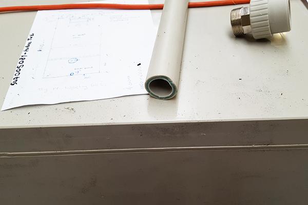 króćce przyłącza zbiornika pp przeznaczonego na skruber absorber oczyszczanie powietrza odlotowego