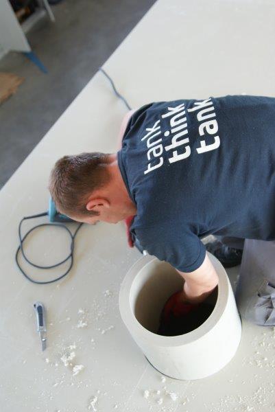 króciec wylotu gazów d200 po oczyszczeniu ze skrubera