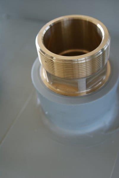 króciec z gwintem zewnętrznym tworzywo do płyt z polipropylenu wgrzanie wspawanie