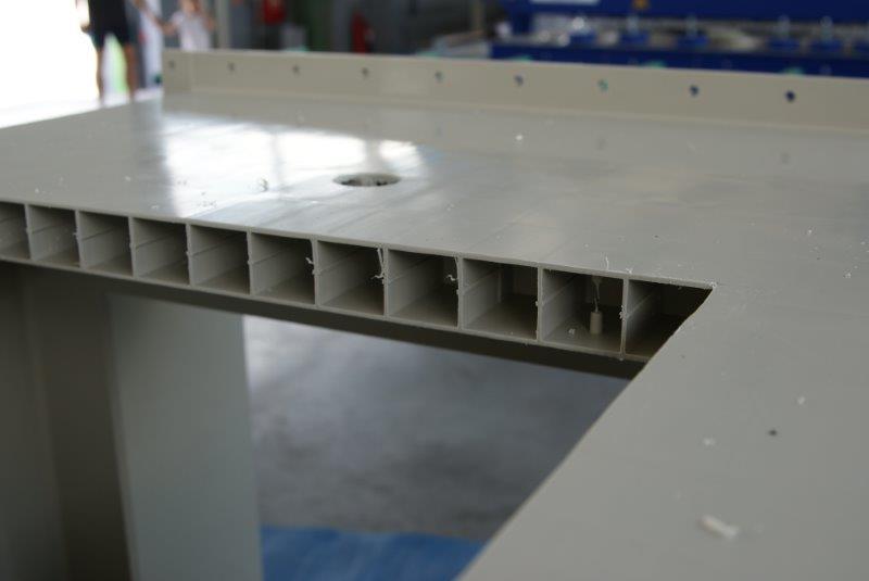 przekrój chemoodpornej ściany obudowy skrubera skropliny korozyjność odporność