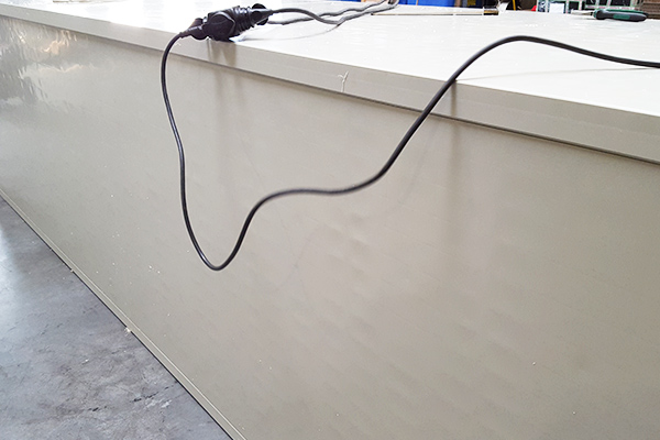 ściany w kształcie kwadratu koła okręgu z tworzywa do systemów skruberow odpornych