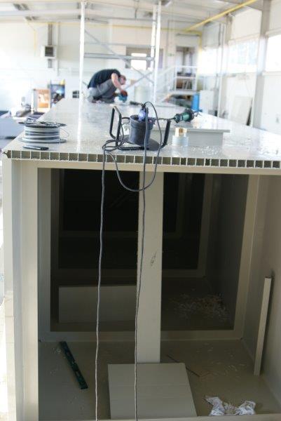 zgrzewanie płyt kasetonowych amargpanel panelowych pp ral 7032 uv