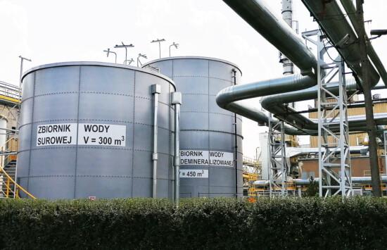 zbiornik wody surowej dla zakładu energetycznego polski producent zbiorników z tworzywa