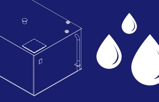 Magazynowanie wody deszczowej w biurowcu – wewnętrzny zbiornik retencyjny z tworzywa