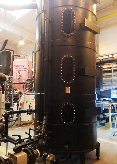 demineralizacja wody metoda wymiany jonowej zbiorniki na złoża jonitowe